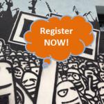 Register NOW graffiti